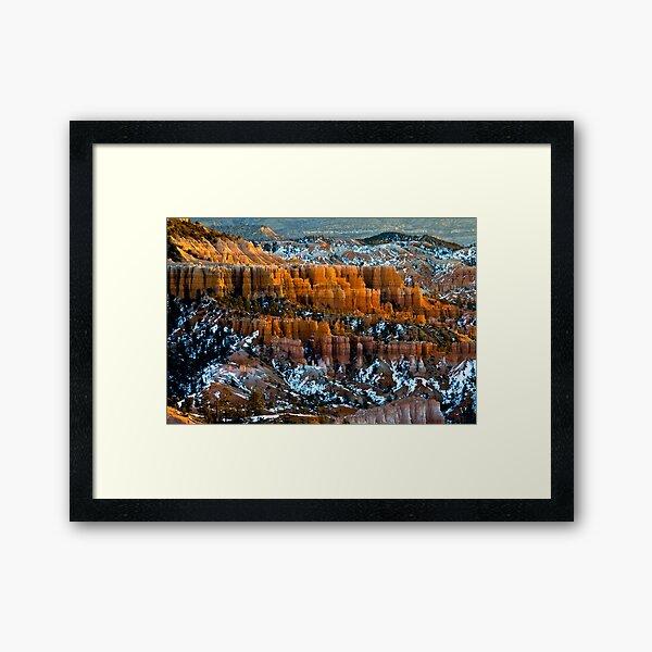 Bryce Canyon Fairy Land Sunrise Framed Art Print