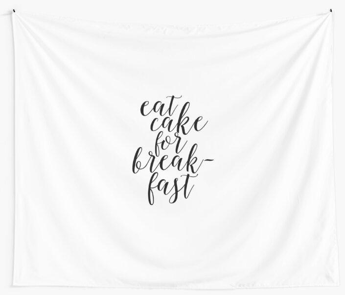 Essen Kuchen zum Frühstück, lustige Print, Küche Dekor, Küche ...
