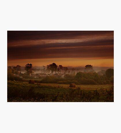 Fog in village Photographic Print