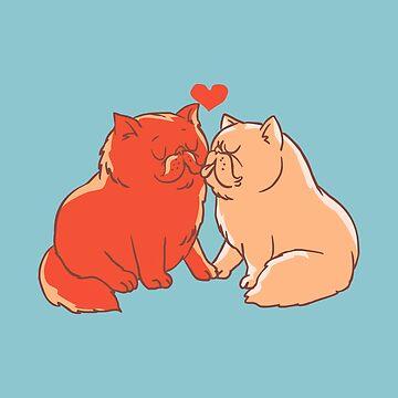 Besos de gato de Huebucket