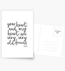 Cadeau d'amis, devis HAFIZ, cadeaux pour les meilleurs amis, cadeau d'amitié, Art mural, décoration d'intérieur, typographie Cartes postales