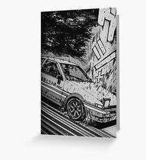 Initial D Toyota AE86 Drifting Greeting Card