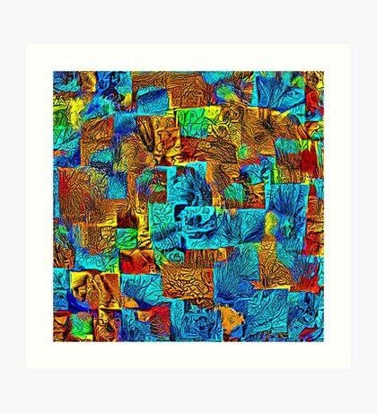 Dark energy streams Art Print