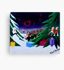 Our Mother Hen Singing Christmas Carols With Love To All Canvas Print