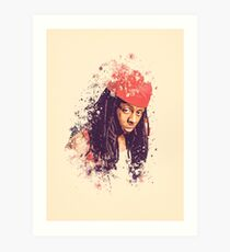 Lil Wayne splatter painting Art Print
