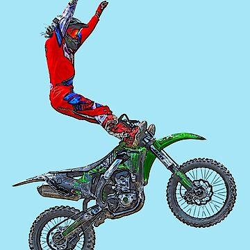 Motocross Aerial Stunt-rider I by RavenPrints