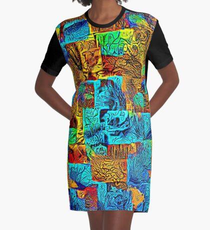 Dark energy streams Graphic T-Shirt Dress