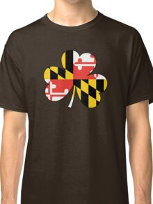 Maryland Flag Four Leaf Clover Classic T-Shirt
