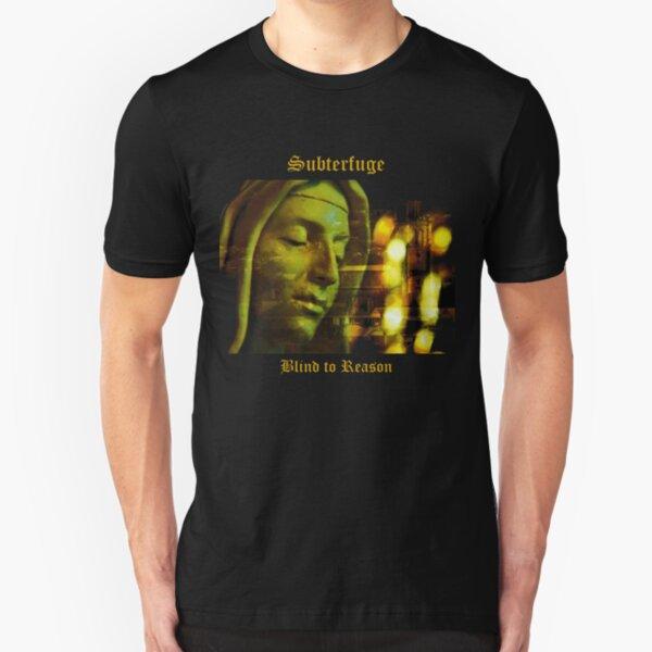 Subterfuge - Blind to Reason - album artwork Slim Fit T-Shirt