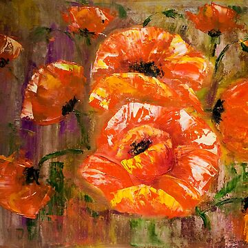 Abstract Poppies by Danguole