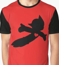 Flying Astro Boy Black Silhouette Graphic T-Shirt