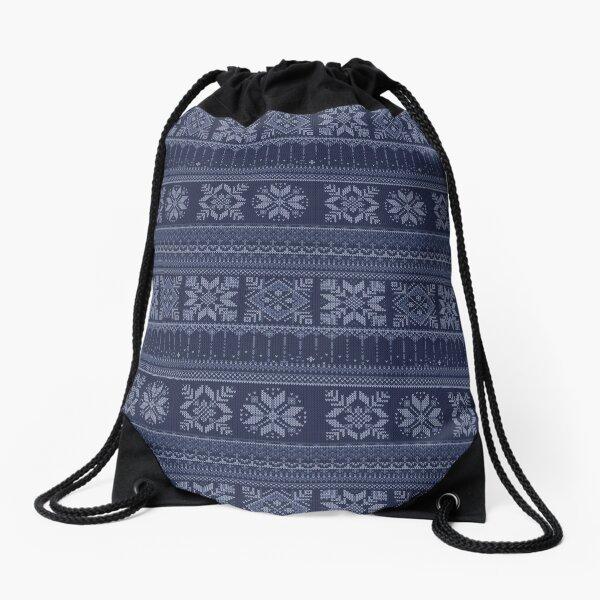Drawstring Backpack Christmas Winter Pattern Deer Rabbit Shoulder Bags