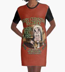 Merry Christmas Baldrick Graphic T-Shirt Dress