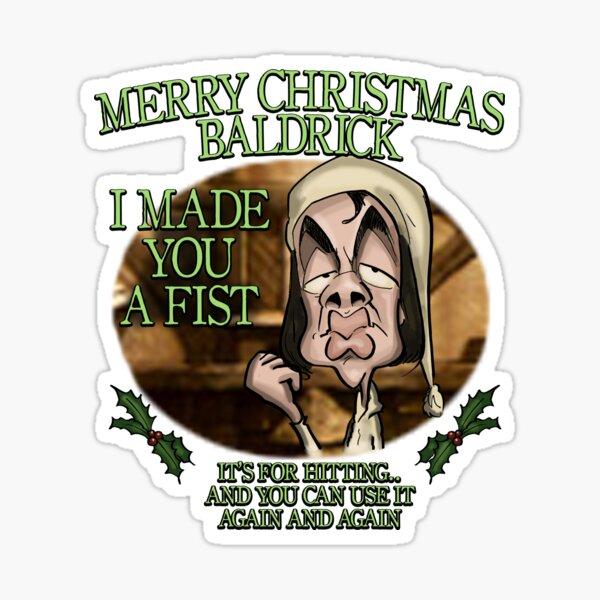 Merry Christmas Baldrick Sticker