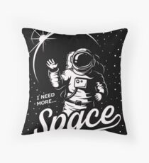 SPACE - COSMONAUTE SPACE MOON EARTH Throw Pillow