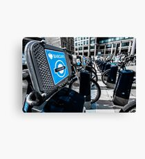Boris Bike London Spitalfields Canvas Print