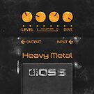 Boss Heavy Metal Pedal iPhone Case by abinning