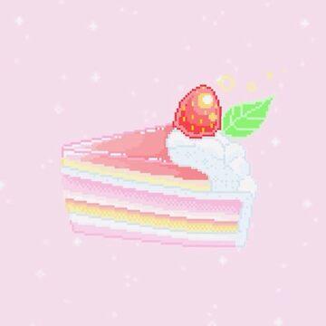Pink Pixel Strawberry Shortcake by Going-Kokoshop