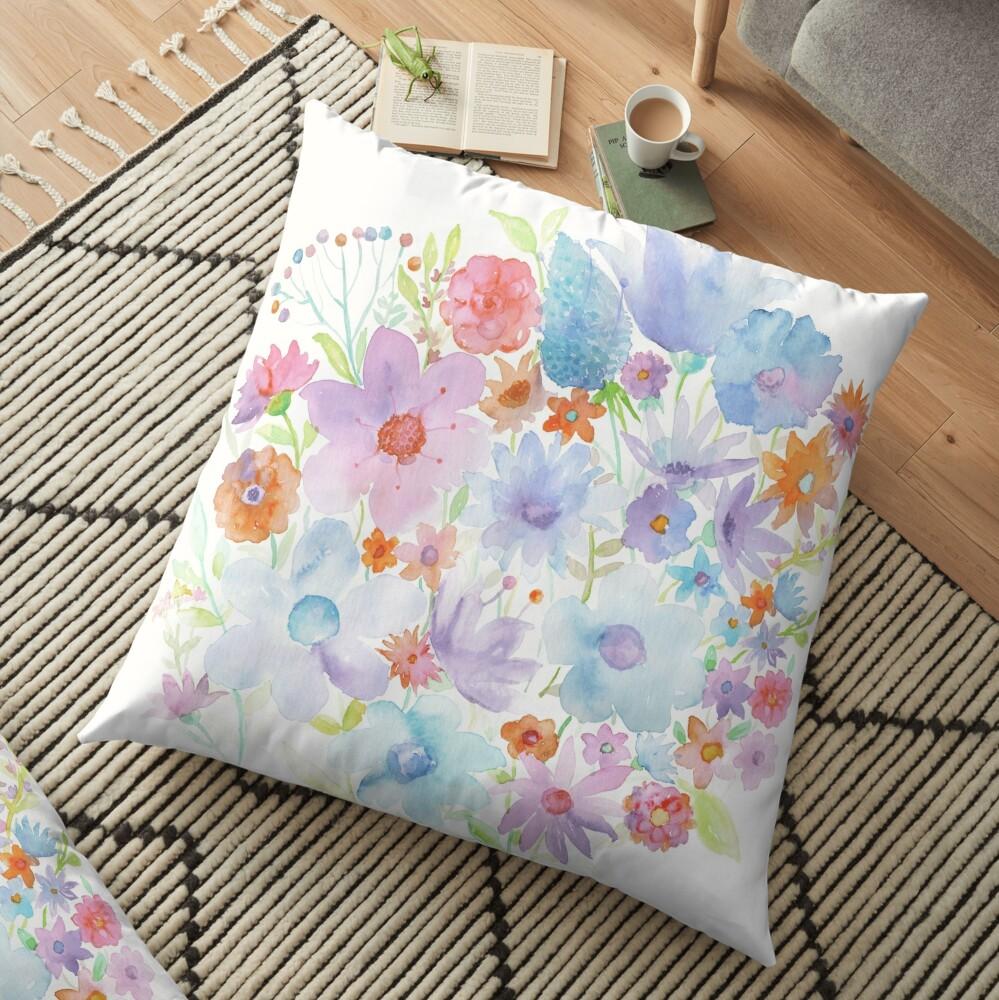 Spring in my heart Floor Pillow