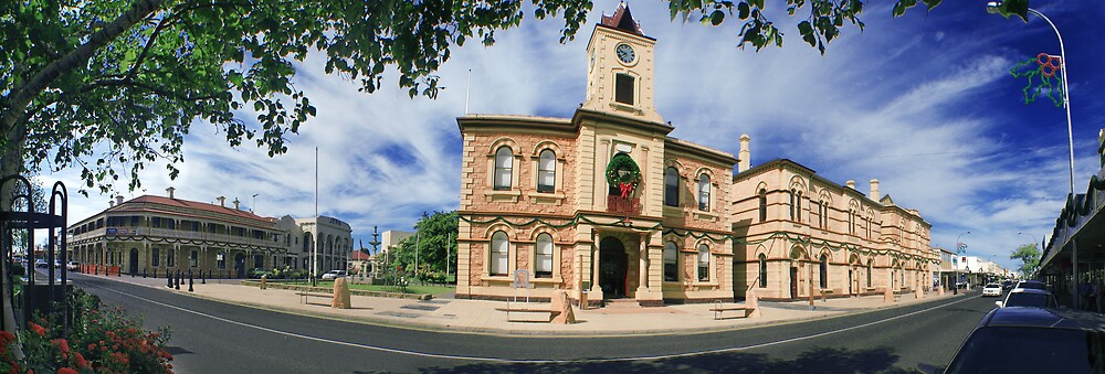 Panorama of the Old Town Hall in Mount Gambier by David Hill