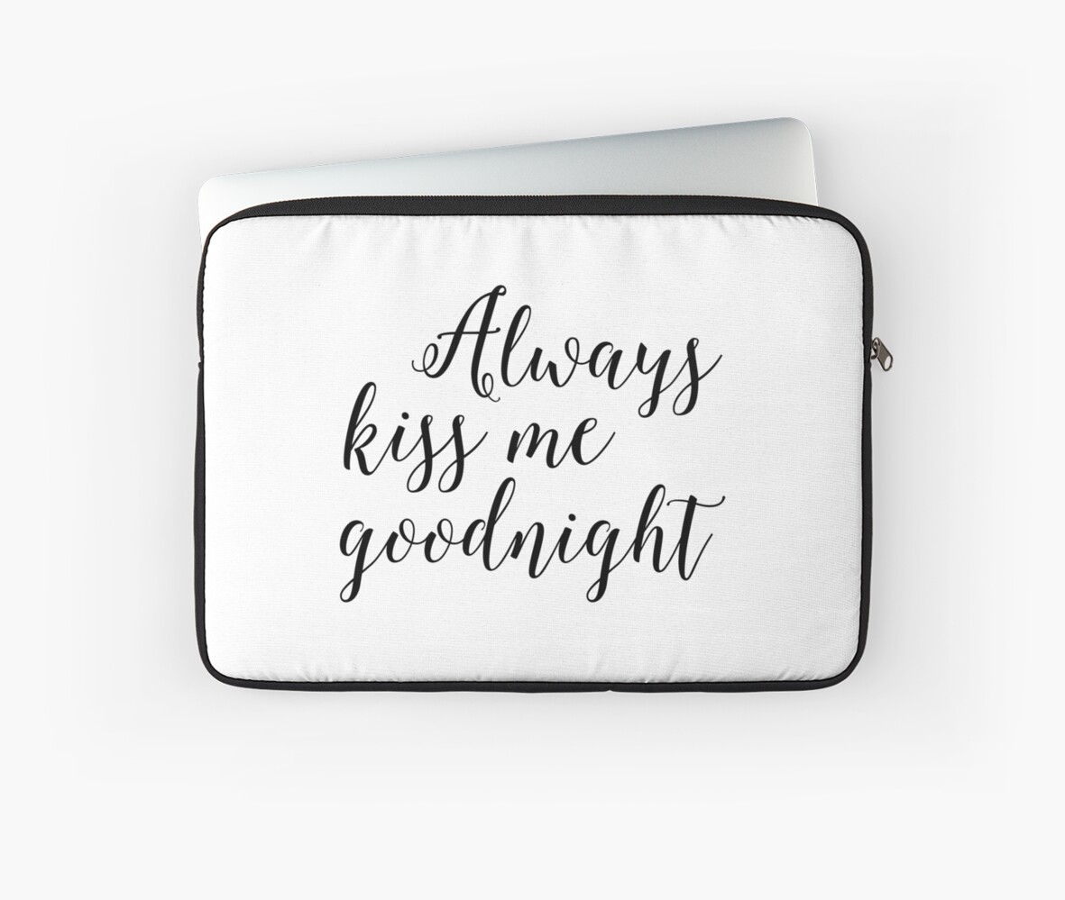 Always Kiss Me Goodnightnursery Wall Artnursery Decornursery