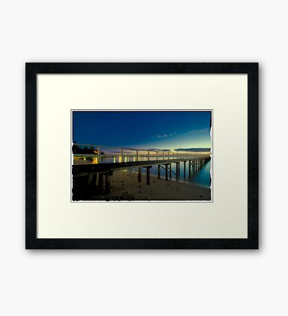 Sorrento Pier 1 Framed Print