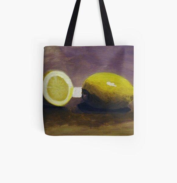 Lemons All Over Print Tote Bag