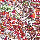 Deep Orange by Marium Rana