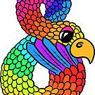 Colourful Bird Number 8 by Shelly Still