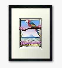 Raiatea Society Islands,Tahiti,French Polynesia. Framed Print