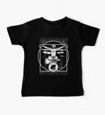 DA VINCI DRUMMER - VITRUVIAN MAN PLAYING THE DRUMS - LEONARDO DA VINCI VITRUVIAN MAN PARODY FOR DRUMMERS Baby Tee