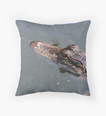 Golden Gator Throw Pillow
