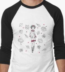Vector fashion girl in autumn clothes Men's Baseball ¾ T-Shirt