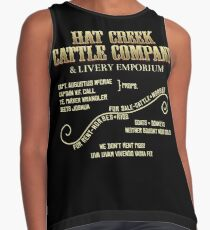 Hat Creek Cattle Company Sign Contrast Tank