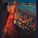 Atlantic City Pennsylvania Railroad Vintage Travel Advertisement Art Poster by jnniepce