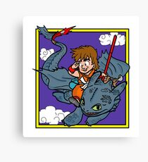 DragonBall Toothless Canvas Print