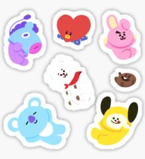BT21 Aufkleber Set Ver.1 Sticker