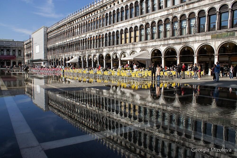 Venice, Italy - St Mark's Square Symmetry by Georgia Mizuleva
