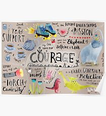 My little Toolbox of Courage Poster