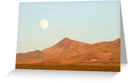 Full Moon and Crescent Peak by Chris Clarke