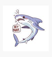 Shark says Hi Photographic Print