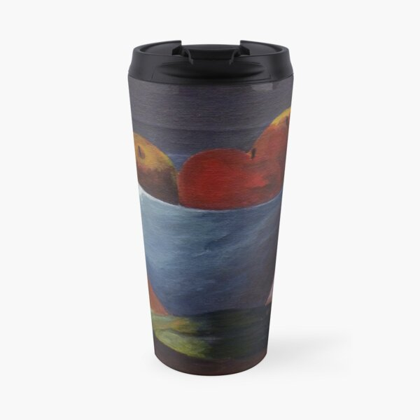 Still life with apples and onions Travel Mug