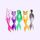 MER-riness - Mermaid Animals - Purple by makemerriness