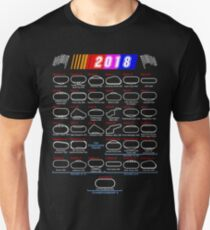 Schedule Nascar Cup Series 2018 Unisex T-Shirt