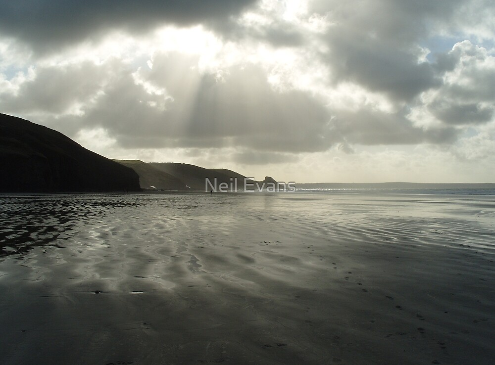 Stormy Newgale by Neil Evans