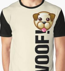 WOOF! (Text) Graphic T-Shirt