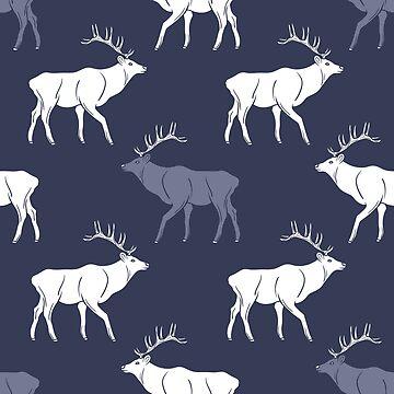 Deer Stag Pattern  by DV-LTD