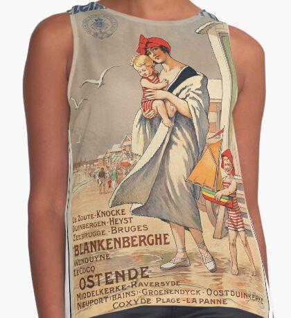 Belgium Vintage Travel Advertisement Art Poster Sleeveless Top