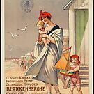 Belgium Vintage Travel Advertisement Art Poster by jnniepce