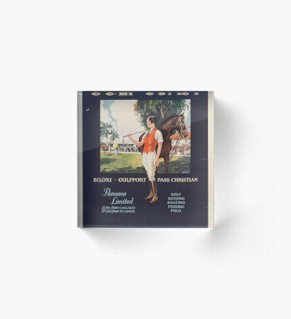 Illinois Vintage Travel Advertisement Art Poster Acrylic Block